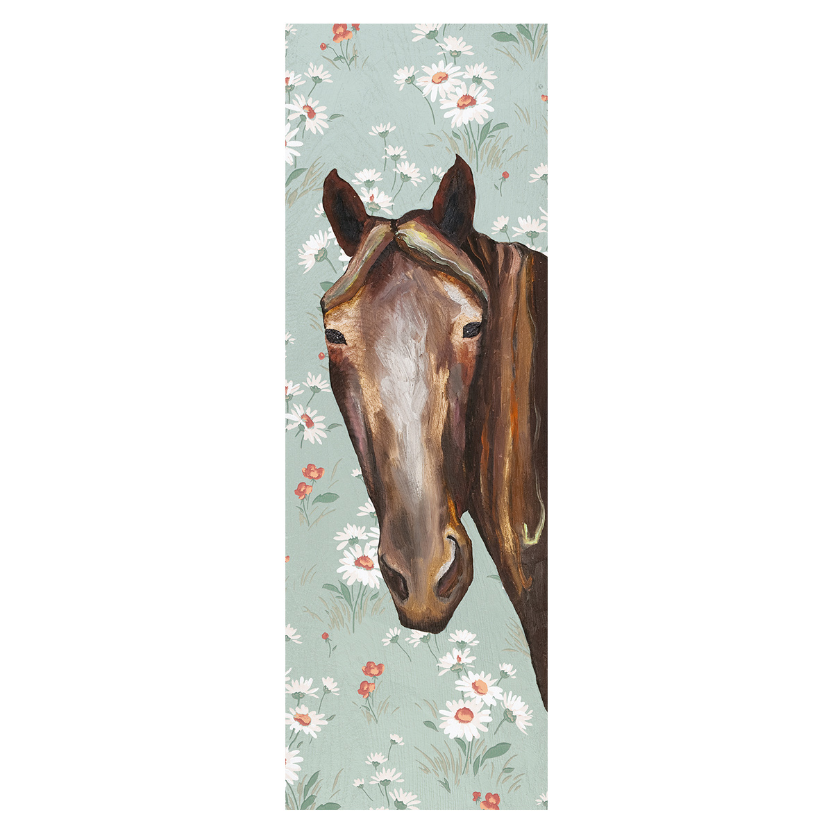 Brown Horse Stare Canvas Art