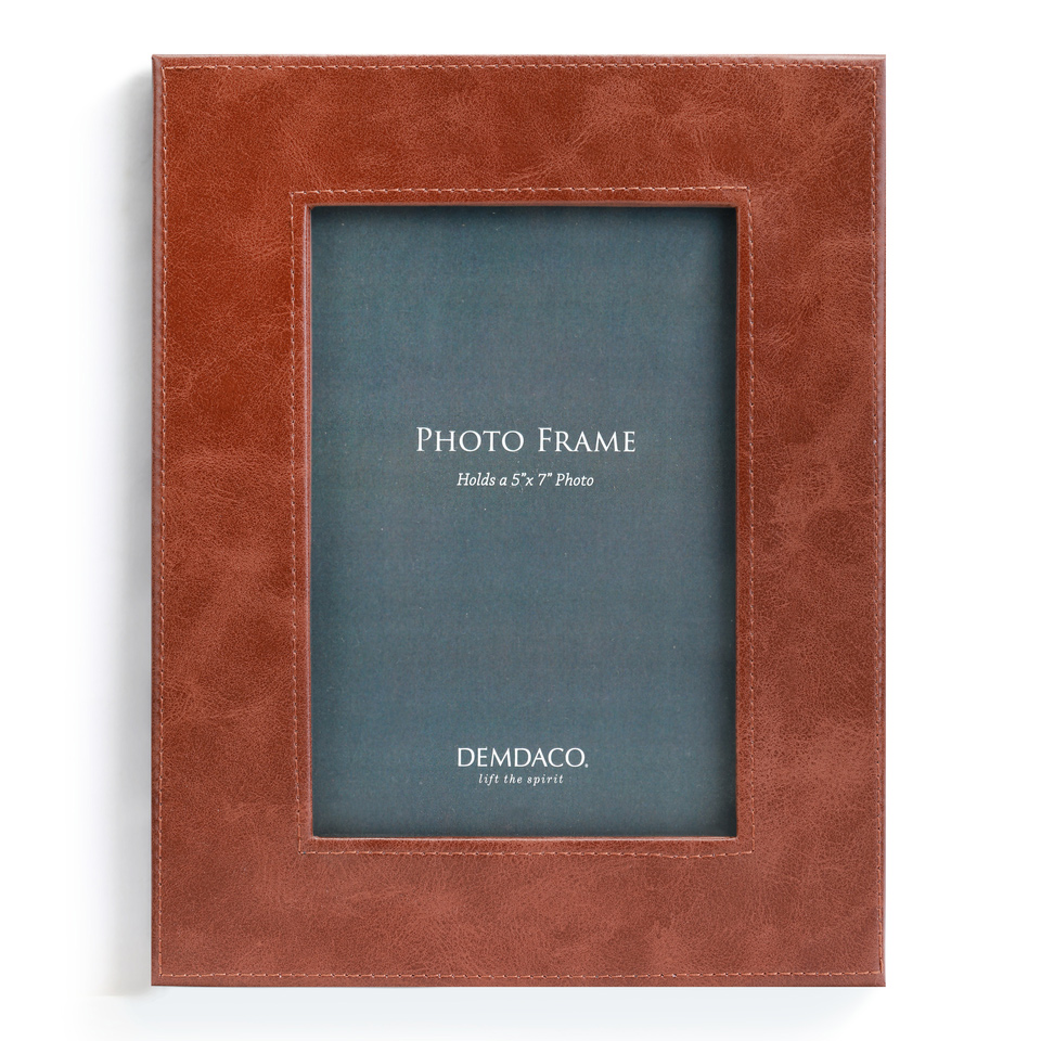 Brown Leather Photo Frame - 5 x 7