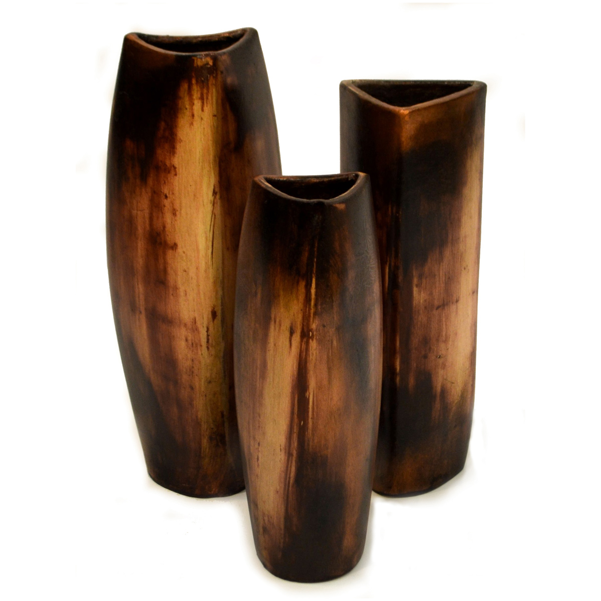 Brown Mini Arbol Vases - Set of 3