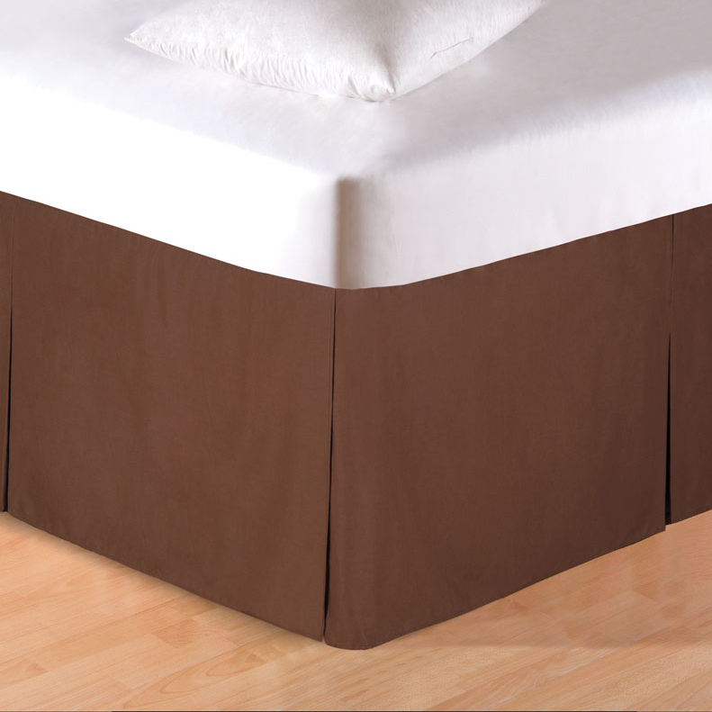 Brown Tailored Bedskirt - Queen