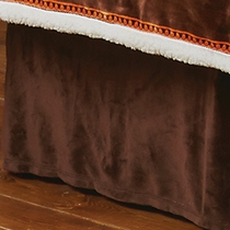 Brown Plush Bedskirt - Queen