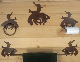 Bucking Bronco Bath Hardware