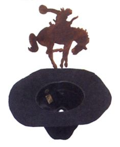 Bucking Bronco Cowboy Hat Rack
