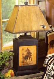 Bucking Bronco Lamp