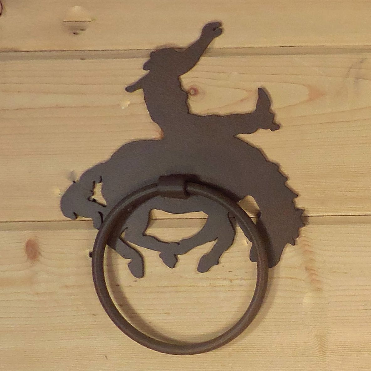 Bucking Bronco Towel Ring