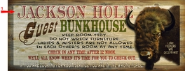 Buffalo Bunkhouse Sign - 14 x 36