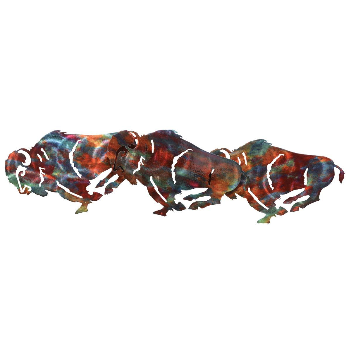 Buffalo Copper Patina Metal Wall Art