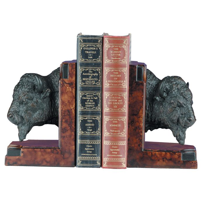 Buffalo Head Bookends