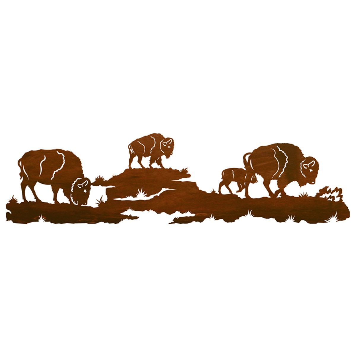 Buffalo Herd Wall Art - 42 Inch
