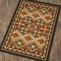 Buffalo Lodge Rug - 5 x 8