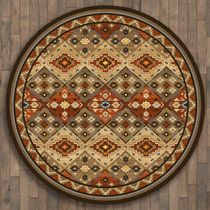 Buffalo Lodge Rug - 8 Ft. Round