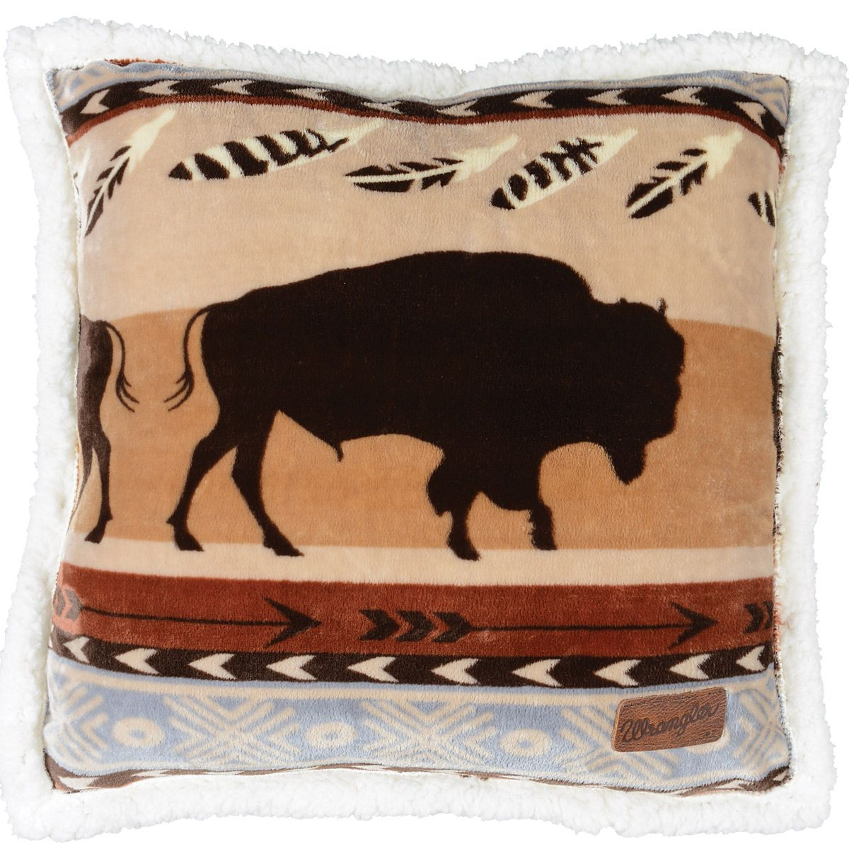 Buffalo Roam Plush Pillow