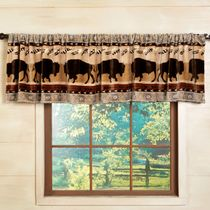 Buffalo Roam Plush Valance - OUT OF STOCK UNTIL 6/11/2021