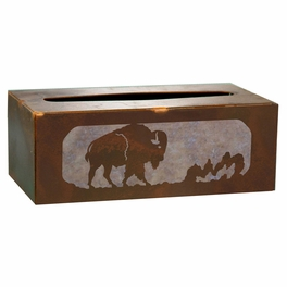 Buffalo Tissue Covers and Waste Basket