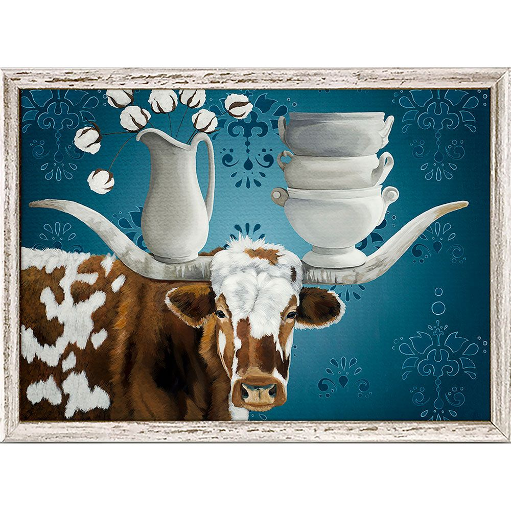 Bull in a China Shop Mini Framed Canvas