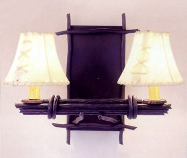 Bundled Twigs Double Wall Sconce