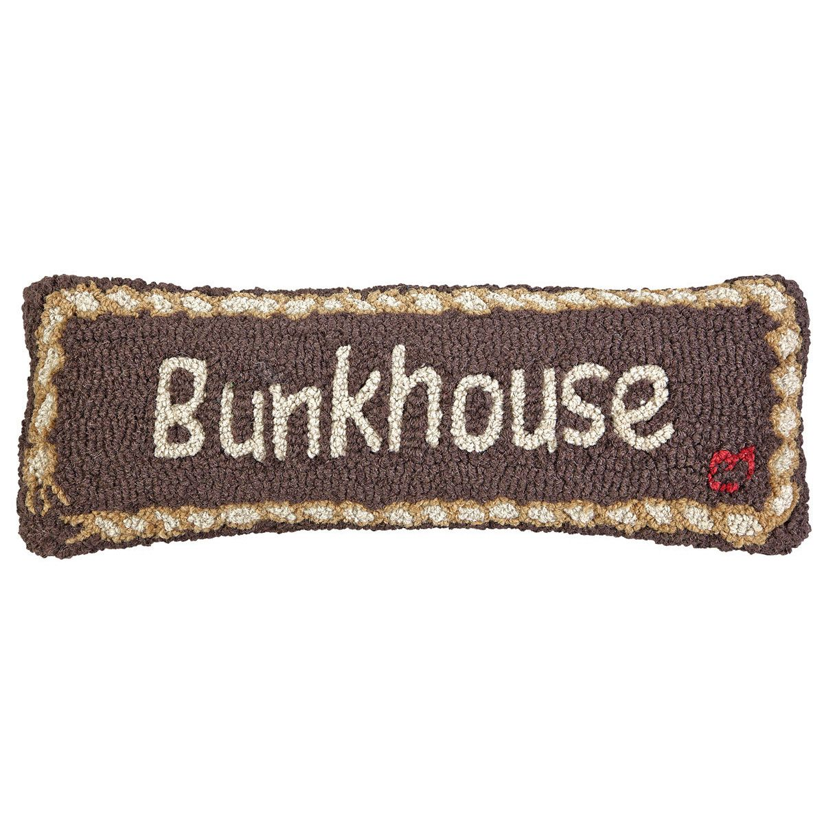 Bunkhouse Hooked Wool Rectangle Pillow