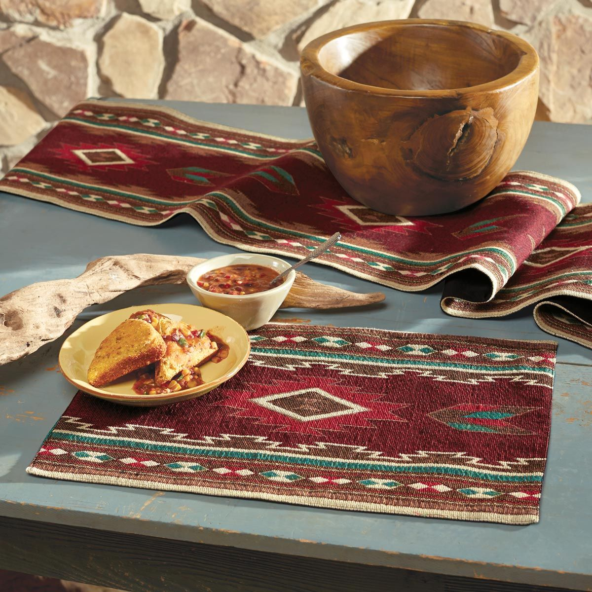 Burgundy Taos Placemat - OUT OF STOCK UNTIL 1/1/2021