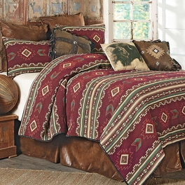 Burgundy Taos Woven Blanket Bedding Collection