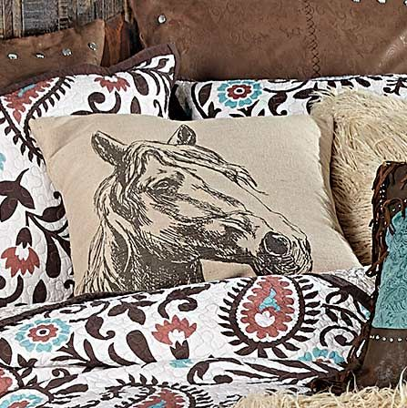 Burlap Horse Pillow