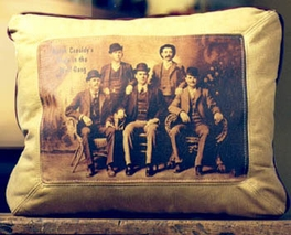 Butch Cassidy Leather Pillow