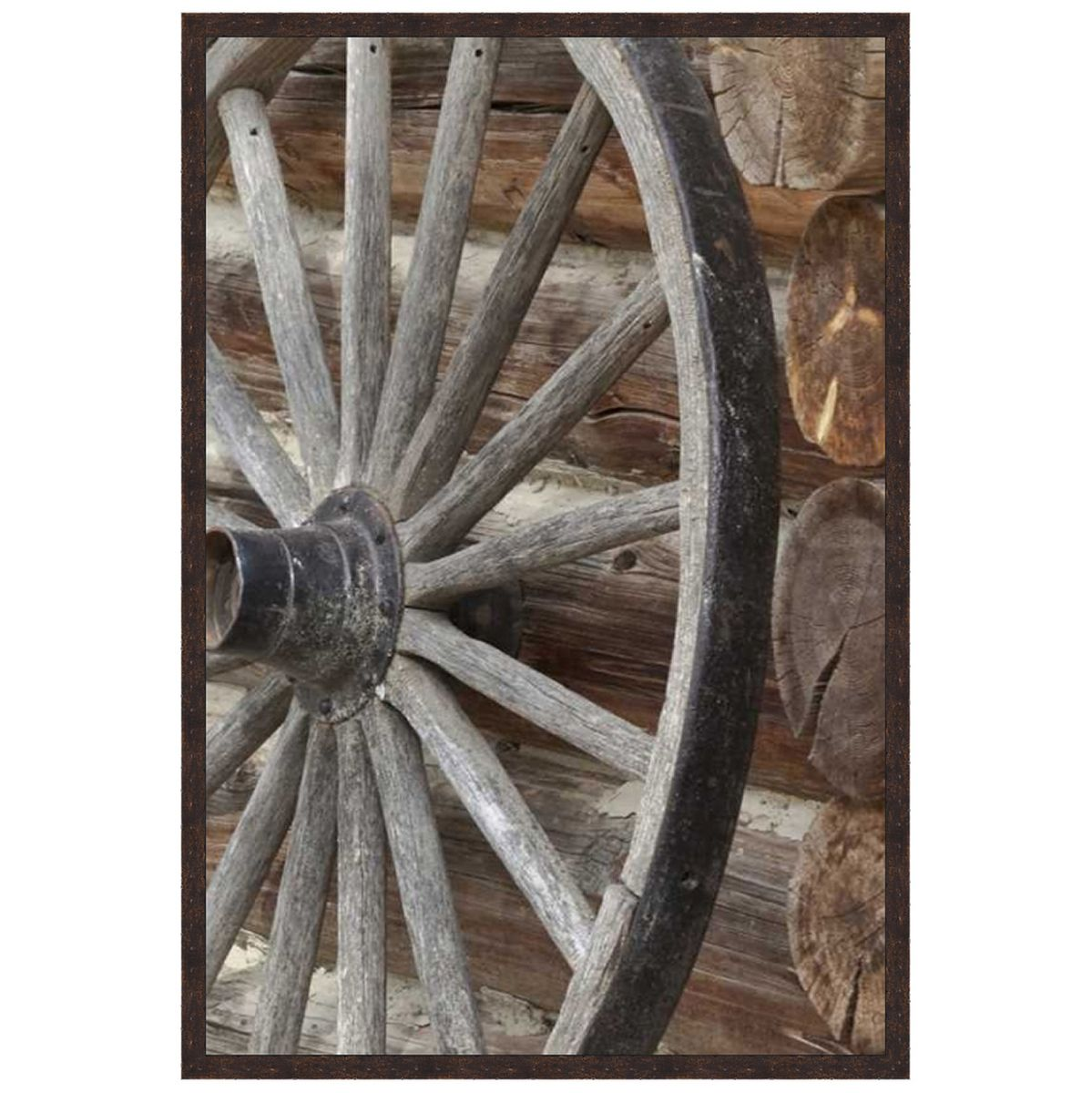 Cabin Wheel Canvas Art
