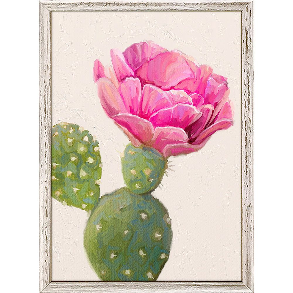 Cactus Bloom I Mini Framed Canvas