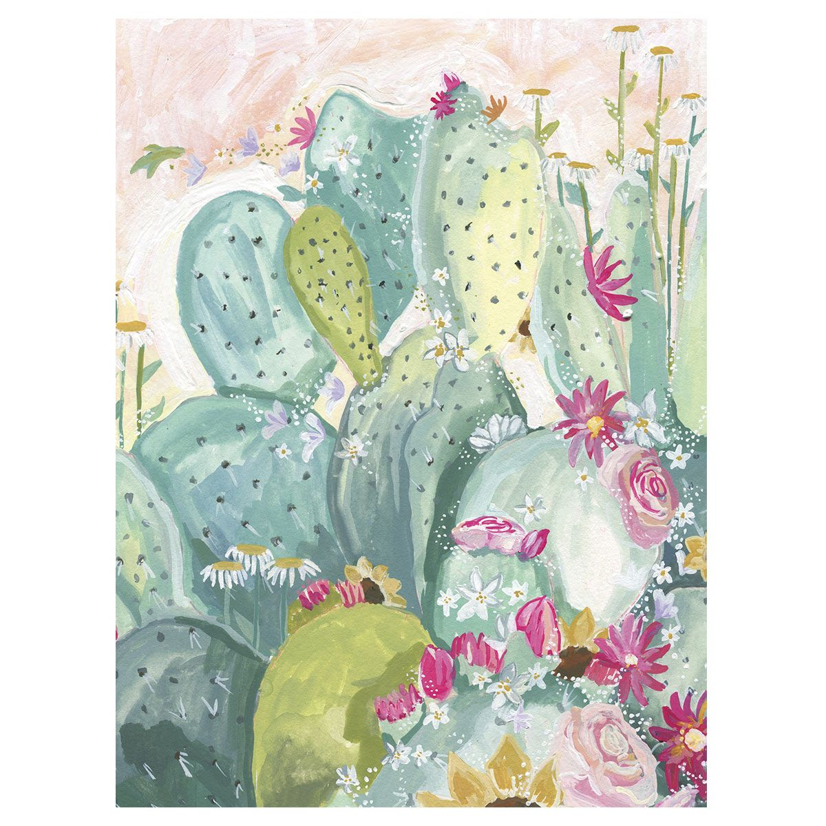 Cactus Bouquet Canvas Art