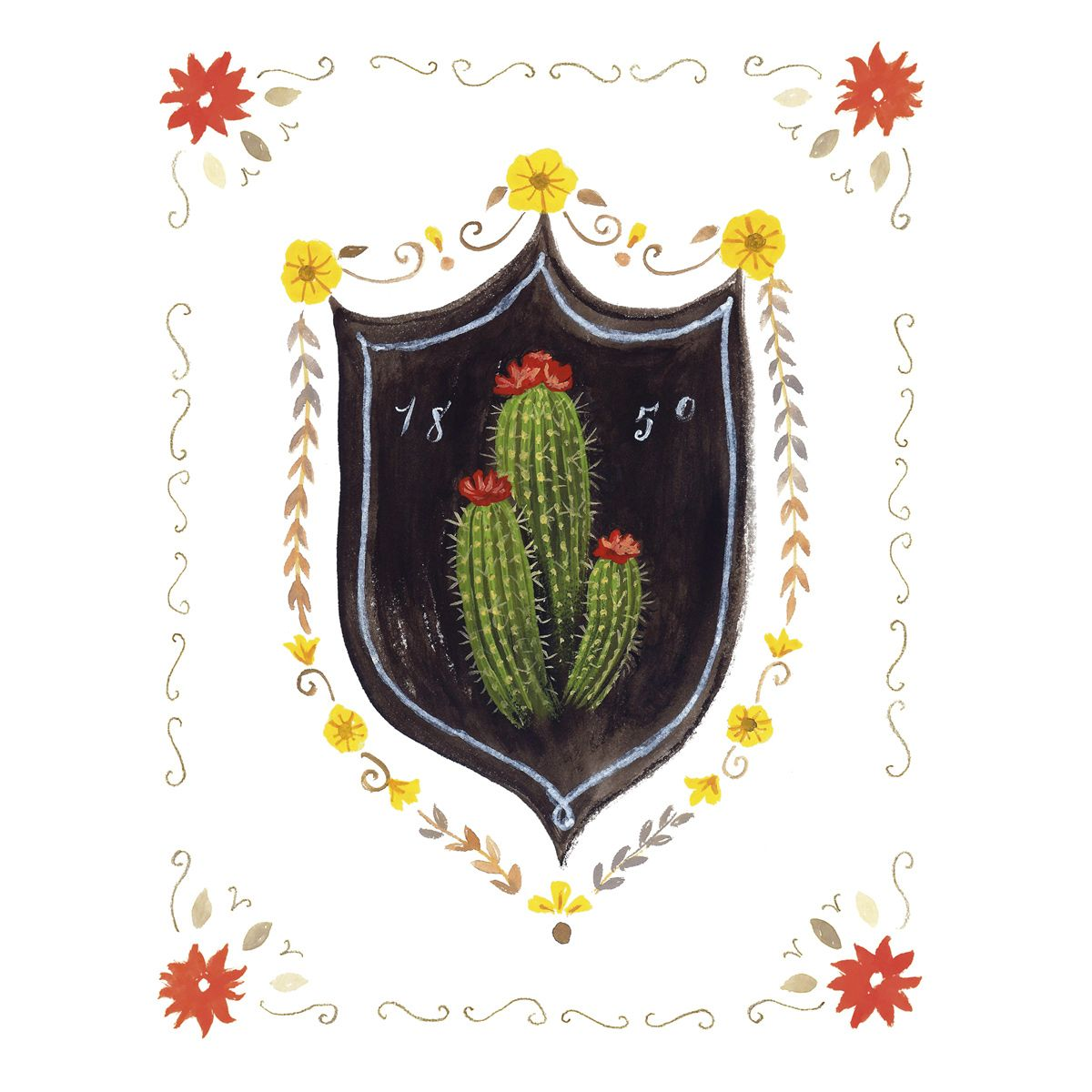 Cactus Crest Canvas Art