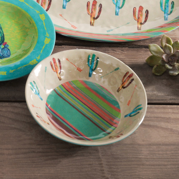 Cactus Design Melamine Bowl Set of 4
