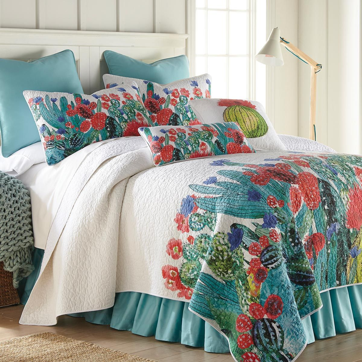 Cactus Flowers Quilt - King