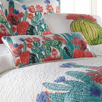 Cactus Flowers Rectangle Pillow
