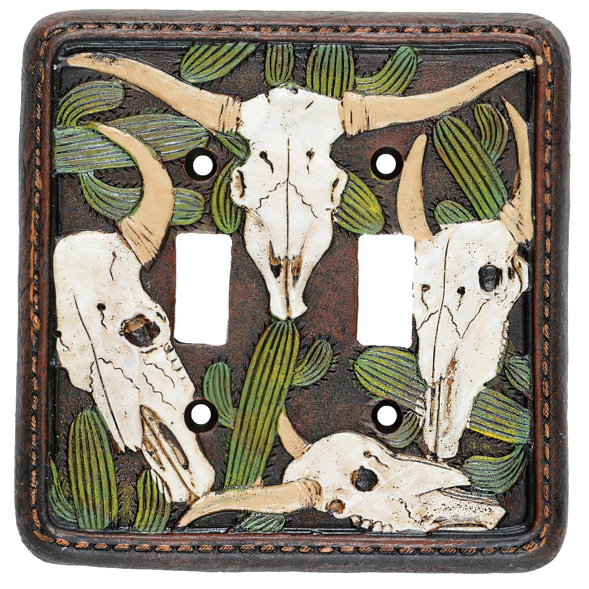 Cactus Skull Double Switch Plate - CLEARANCE