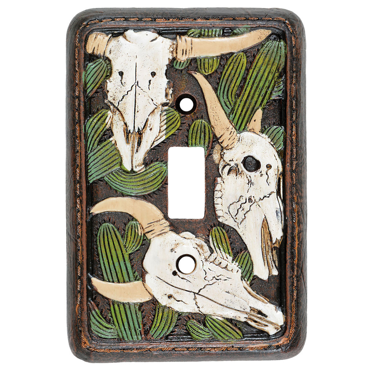 Cactus Skull Single Switch Plate - CLEARANCE