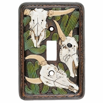 Cactus Skull Single Switch Plate