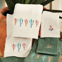 Cactus Towel Set - Cream (set of 3)