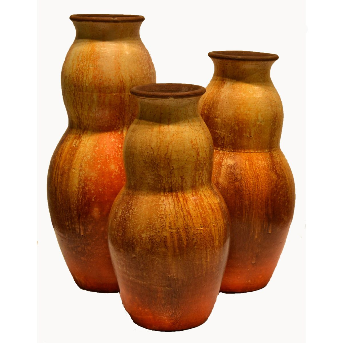Calabaza Orange Vases - Set of 3