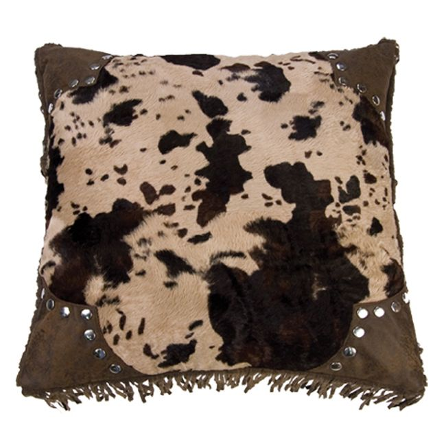 Caldwell Cowhide Scalloped Square Pillow