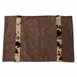 Caldwell Cowhide Table Linens