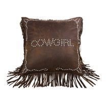Calhoun Cowgirl Studded Pillow