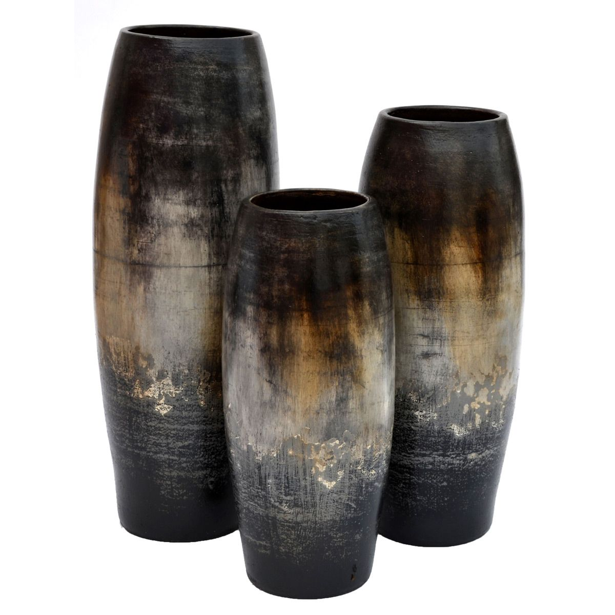 Camino Black Vases - Set of 3