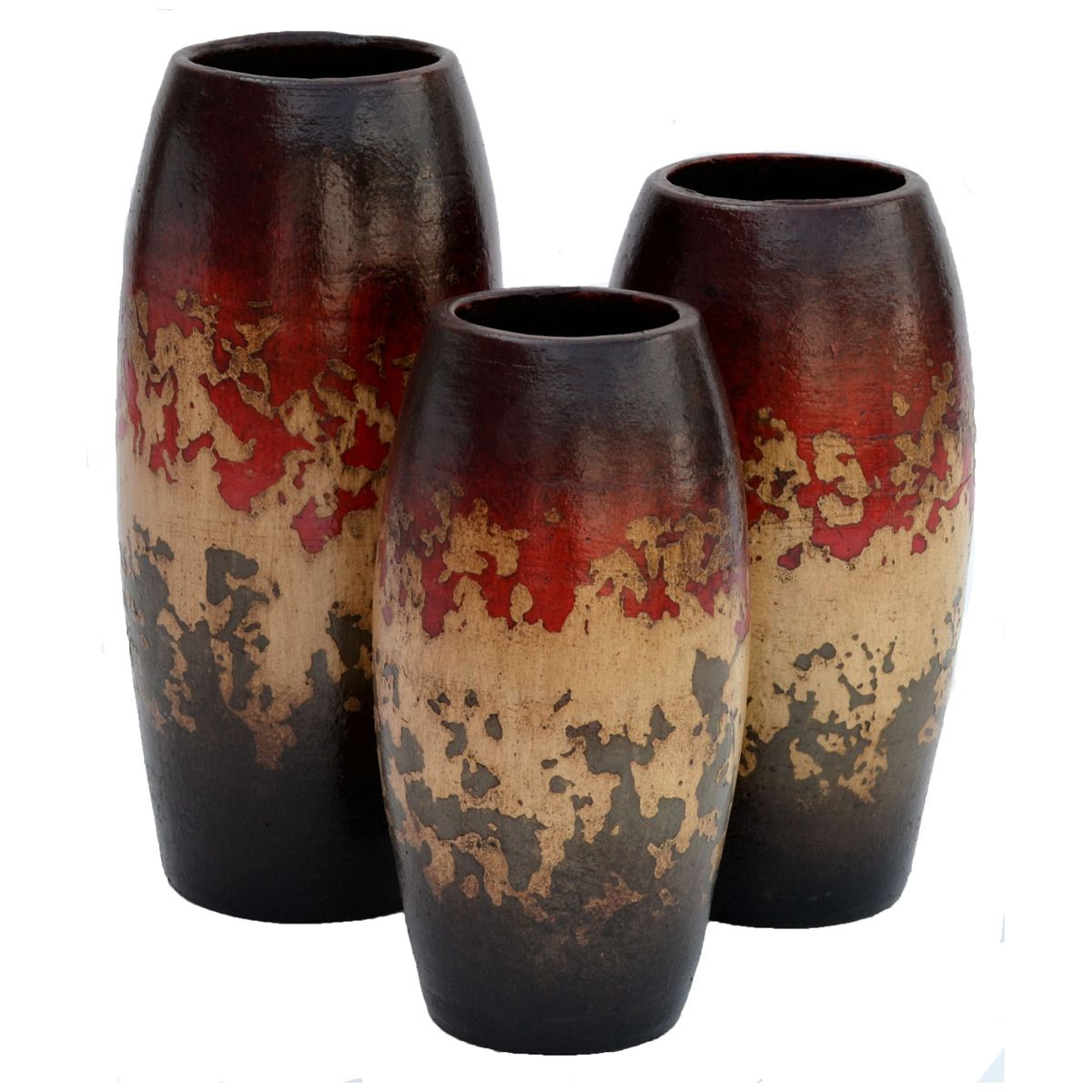 Camino Red Vases - Set of 3