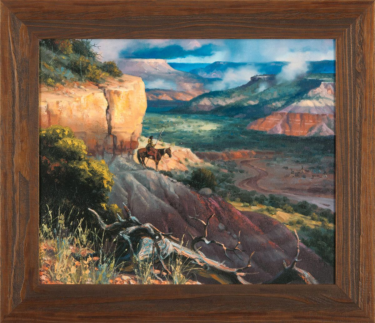 Camp Along the Timbercreek Framed Print