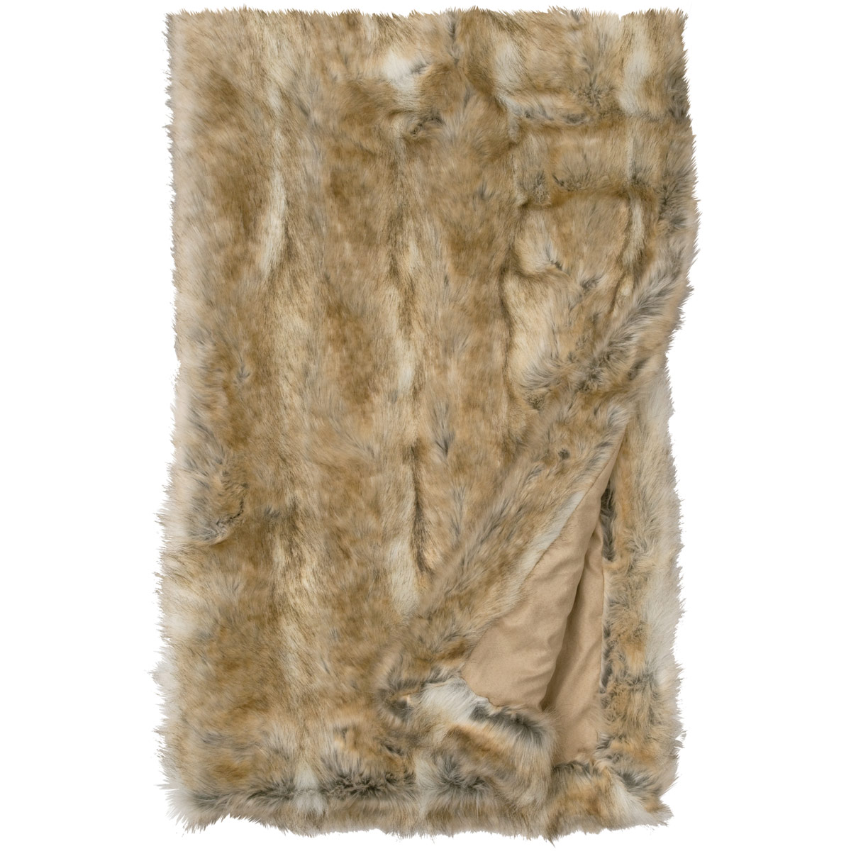 Canadian Stone Fox Fur Throw