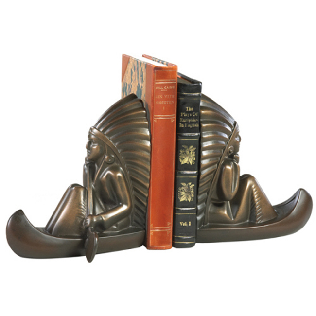 Canoe Chief Bookends - Set of 2