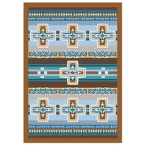 Canyon Cross Blue Rug - 3 x 4