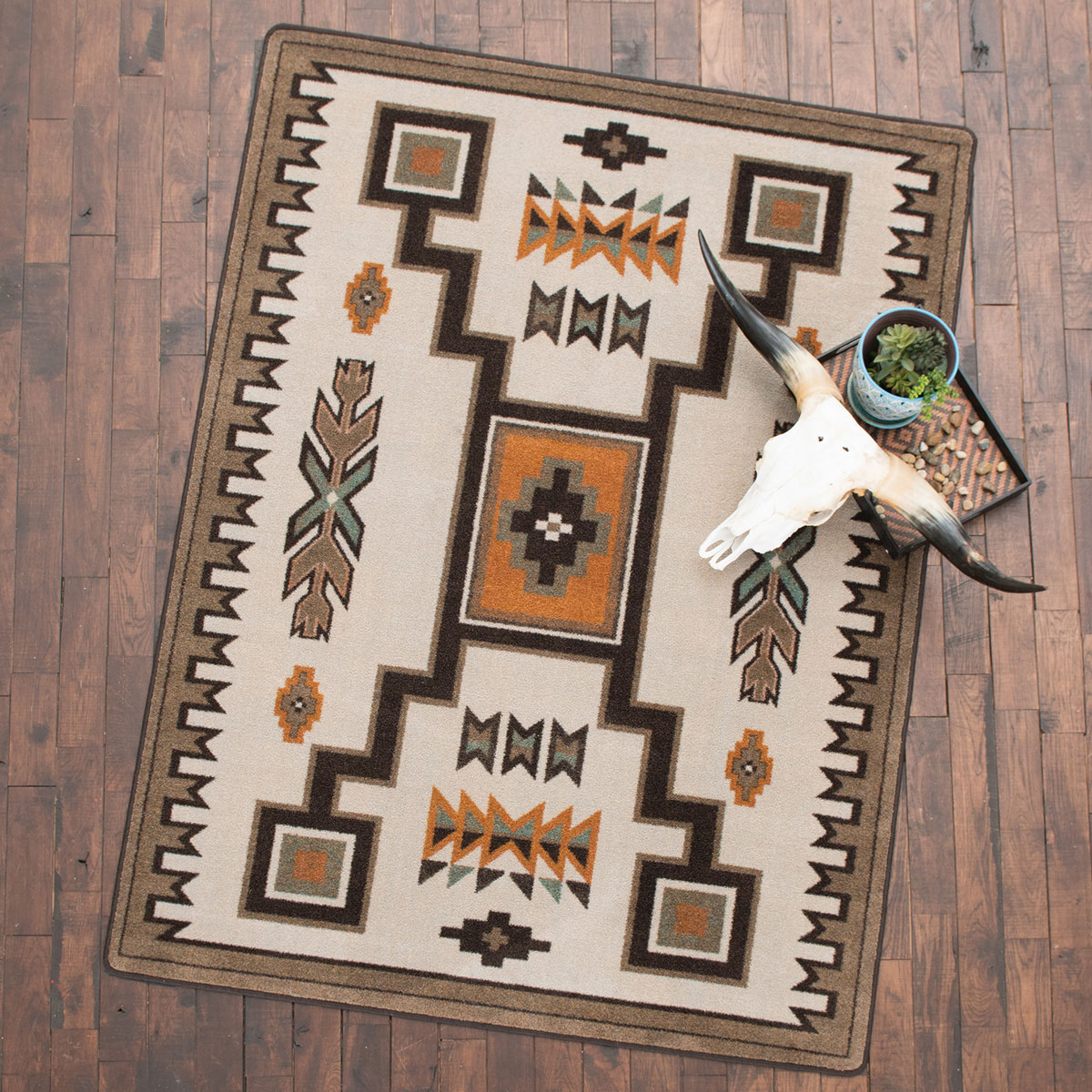 Canyon Shadow Saddle Rug - 3 x 4