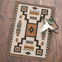 Canyon Shadow Saddle Rug - 4 x 5