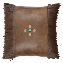 Canyon Shadows Brown Fringed Pillow