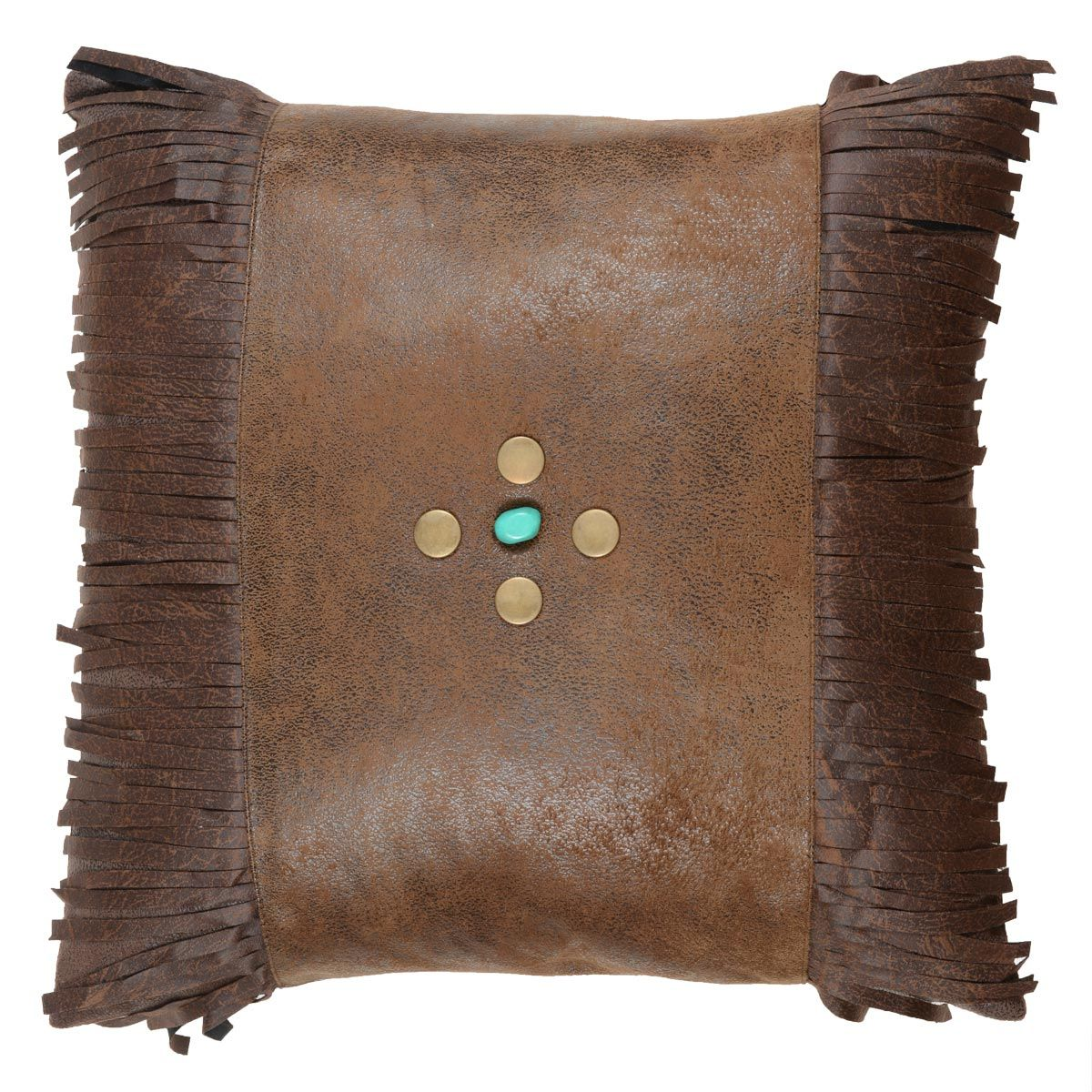 Canyon Shadows Brown Fringed Pillow - BACKORDERED UNTIL 7/9/2021